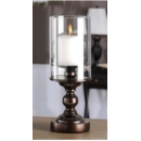Bronze Glass Candle Holder small