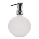 Soap Dispenser White Glass Globe
