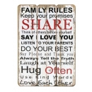 Family Rules Sign Large