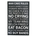 Man Cave Rules Plaque Sign