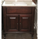 Design Classics Home and Garden Manor Vanity 32w in classical transitional Style with cream marble top